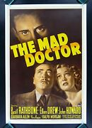The Mad Doctor Cinemasterpieces Rare Md Physician Hollywood Movie Poster 1940