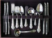 Reed And Barton French Renaissance 61pc Sterling Set / 8