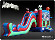 Commercial Inflatable Bounce Houses For Sale -sports Moonbounce Combo And Slide