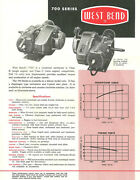 Vintage And Very Rare 1960 West Bend 700 Go-kart Engine Specifications Sheet