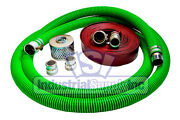 2 Epdm Mud Suction Hose Camlock Kit W/50' Red Discharge Hose Fs
