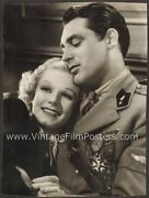 Jean Harlow And Cary Grant Original Virgil Apger 1936 Double-weight Portrait Suzy