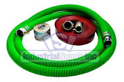 3 Epdm Mud Suction Hose Kit W/50' Red Discharge Camlock Hose Fs