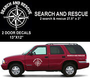 Sar Search And Rescue Compass Rose Vinyl Decal Set Universal