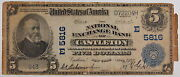 Series 1902 5 National Currency Note, Castleton Ny, E 5816
