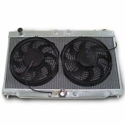 Aluminum 2-row Radiator Two 12 Cooling Fans For 2g 95-99 Eclipse Talon
