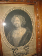Antique French Engraving Marie Of Lorraine Duchess Of Guise Paris 1684