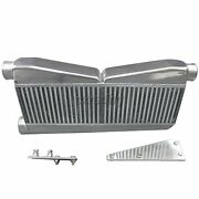 Twin Turbo 27x12.5x3.5 Intercooler + Brackets For 79-93 Ford Mustang Camaro