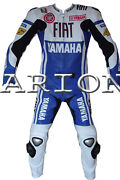 Motorbike Riding 2 Piece Suit Motorcycle Leather Jacket And Trouser Rossi
