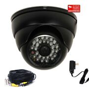 4 Outdoor Ir W/ Sony Effio Ccd Wide Angle Security Camera 700tvl Cable Power Clr