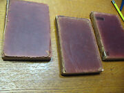 Les Miserables Victor Hugo 3 Volumes Early 1900's Leather