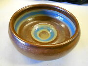 Vintage Clay Pottery Handcrafted Bowl. Red Clay. Nice! FREE SHIP IN USA