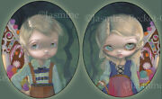 Jasmine Becket-griffith Signed Fairytale Hansel And Gretel Set Of Two Art Prints