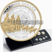 Canada 2013 7 Coin Pure Silver Proof Set With Arctic Expedition Gold Plated 1