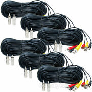 6 X 50 Ft Audio Video Power Cable For Dvr Security Camera Cctv Wire Bnc Rca Ckv