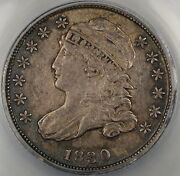 1830 Capped Bust Silver Dime 10c Anacs Au-55 Details Very Pleasing Example