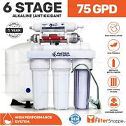6 Stage Ph Mineral - Reverse Osmosis Water System W/ Permeate Pump 1000 75 Gpd