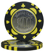 50pcs Monte Carlo Coin Inlay Poker Chips 100