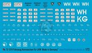 Peddinghaus 1/72 German Transport Truck License Plates And Tactical Markings 1219