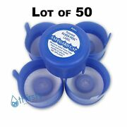 Lot Of 50 3 And 5 Gallon Water Bottle Snap On Cap Anti Splash 55mm Peel Off Tops