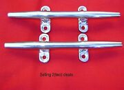 2 Stainless Steel Herreshoff Boat Yacht Dock Deck Line Rope Cleat/cleats 12