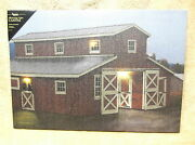 Horse Barn Red Farm Lighted Canvas Wall Decor Sign New On Off Switch Lights Up