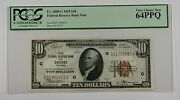 1929 10 Ten Dollar Chicago Frbn Note Pcgs Very Choice New 64 Ppq Fr. 1860-g