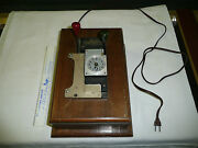 Pool Room Calculagraph Machine Clock -keeps Perfect Time --wooden Case --perfect