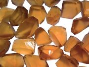 Champagne Citrine Flawless Facet Rough - 25 To 50 Cts/pc - 125 Carat Lot