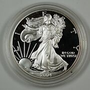 2004 American Silver Eagle Ase Proof Gem Coin In Hard Plastic Capsule