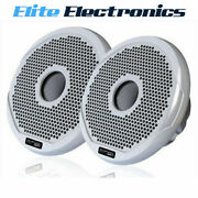 Fusion Ms-fr6021 Marine 6 2-way 200w Speakers Boat Audio White And Black Grilles