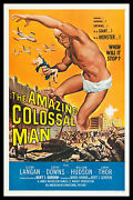 Amazing Colossal Man Cinemasterpieces Sci Fi Monster Giant Movie Poster 1957