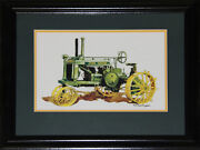 Tractor Trailer John Deere By Rob Macdougall Art Print Collector Frame