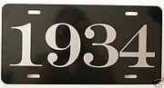 1934 Year License Plate Fits Chevy Ford Chrysler Buick Packard Plymouth Roadster