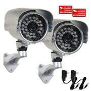 2 X 700tvl Wide Angle Night Vision Security Camera Outdoor W/ Sony Effio Ccd Wwb