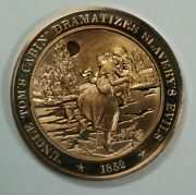 History Of The U.s. Uncle Tomand039s Cabin Slaveryand039s Evils 1852proof Bronze Medal