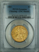 1893 Liberty 10 Eagle Gold Coin Pcgs Unc Details Cleaning