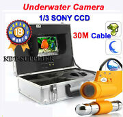 30m Cable Cctv 7and039and039 Color Tft Lcd Underwater Camera Fishing Camera 1/3 Sony Ccd