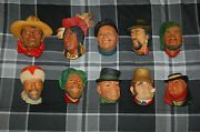 Vintage W H Bossons Chalkware Heads Circa 1962-1969 Very Unique And Collectible