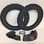 Yamaha Pw 50 Front And Rear Tires And Tubes 2.50x10 Pw50 Ttr50