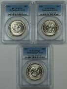 1951 Washington-carver Silver Half Dollar Pcgs Ms-64 Price For One Coin Only
