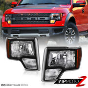 For 09-14 Ford F150 Pickup Truck Black Clear Oe Style Replacement Headlight Lamp