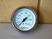 Faria Stainless Steel White Dial 4 Speedometer Gauge 0-60 Mph