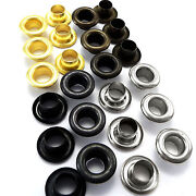 5mm 6mm Or 8mm Solid Brass Eyelets With Washers - Silver Black Gold Antique