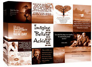 Motivation Quotes - Brown Canvas Wall Art Picture 100 Cotton - All Sizes