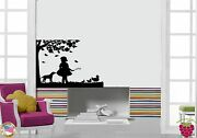 Wall Stickers Vinyl Decal Girl Country Tree Ducks Dog Cool Decor Z1581