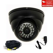2 Security Camera W/ Sony Effio Ccd Ir Outdoor Night Wide Angle 700tvl Cable Clp