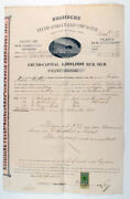 1888 Imperial Russia Russian Fire Insurance Company Reval Police 700 Rubles