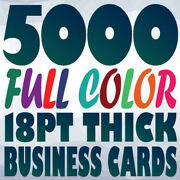 5000 18pt Business Card Printing On Two Sides Full Color Uv Gloss Or Uncoated