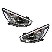 Genuine Led Projection Head Light Lamp Assy + Jack 4p For 11-15 Accent Solaris